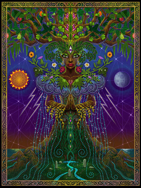 Wall Art - Painting - Sacred System by Cristina McAllister