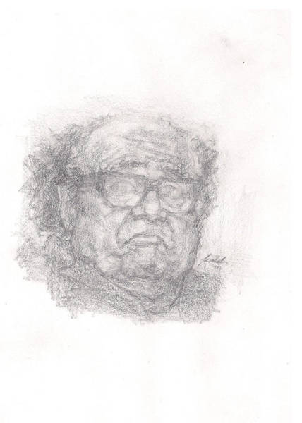 Danny Devito Wall Art - Drawing - Sad Danny Devito by Kaleb MITCHELL