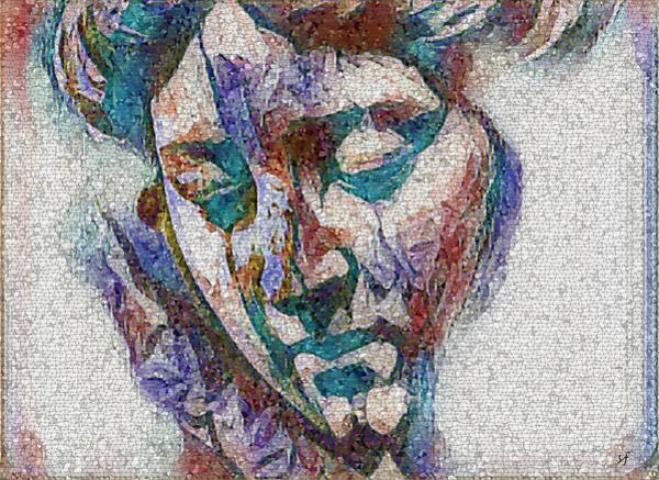 Digital Art - Sad Lady Mosaic by Shelli Fitzpatrick