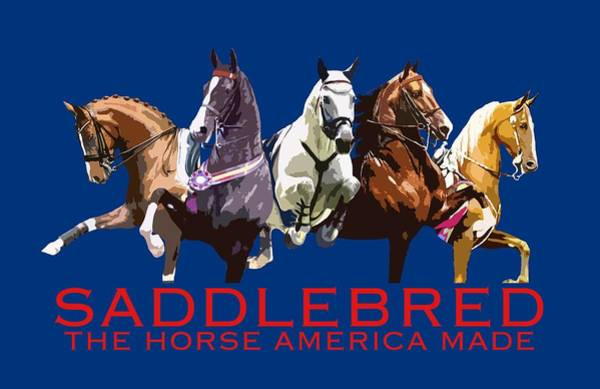 Dressage Wall Art - Digital Art - Saddlebred - The Horse America Made by Karly Morgan