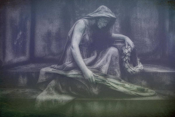 Graveyard Wall Art - Photograph - Sadness And Sorrow by Tom Mc Nemar