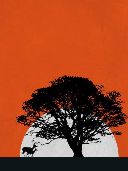 Wall Art - Mixed Media - Safari Sunset by Naxart Studio