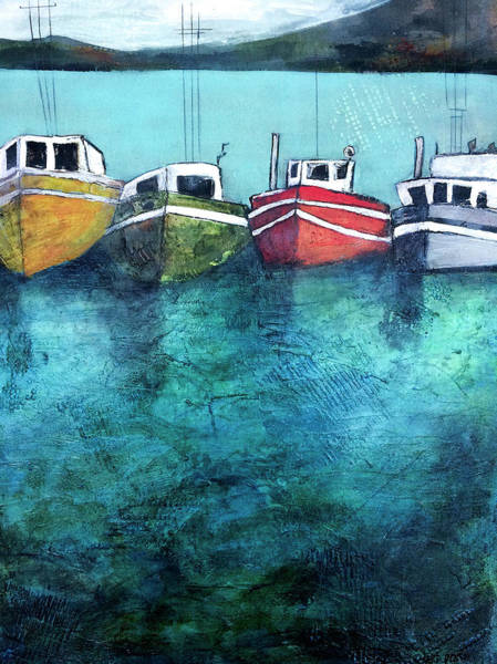 Tug Wall Art - Painting - Safe Harbour by Barb Pearson