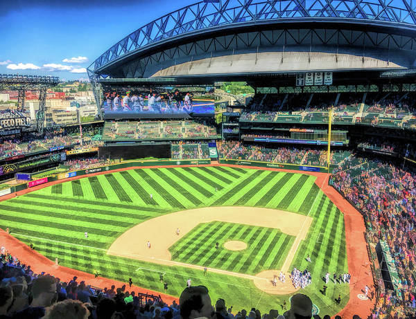 Painting - Safeco Field Seattle Mariners Baseball Ballpark Stadium by Christopher Arndt