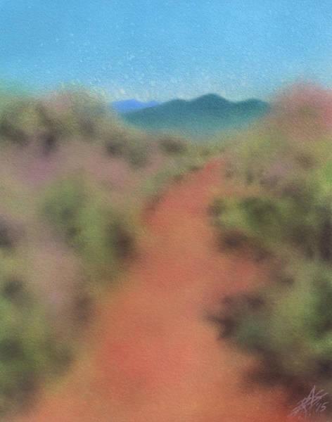Sagebrush Path To Black Mountain Art Print by Robin Street-Morris