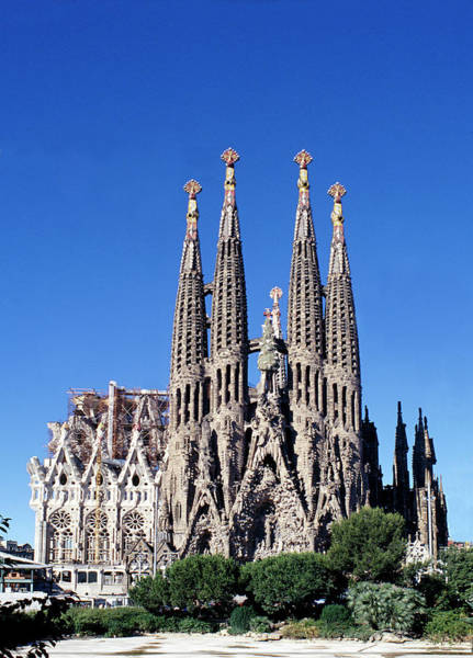 Church Photograph - Sagrada Familia Barcelona by Peter Phipp