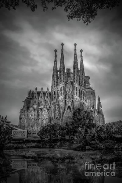Wall Art - Photograph - Sagrada Familia In Barcelona, Spain 2016 Bw by Liesl Walsh