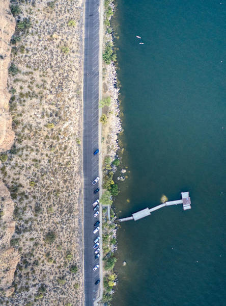 Photograph - Saguaro Lake Shoreline by Ants Drone Photography