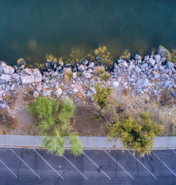 Photograph - Saguaro Lake Upclose Shoreline by Ants Drone Photography
