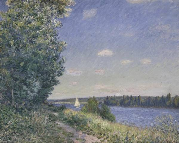 Wall Art - Painting - Sahurs, Path Near The Water, 1894 by Alfred Sisley