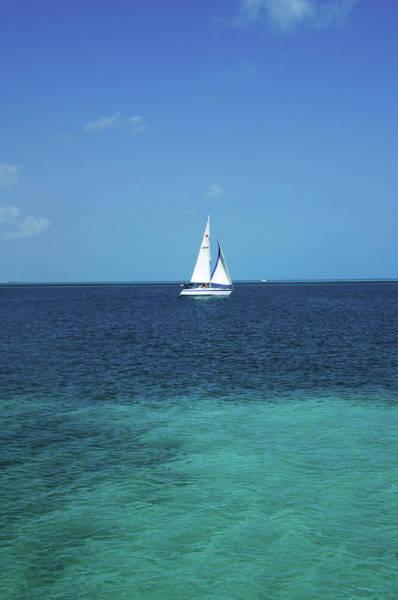 Quintana Roo Photograph - Sail Boat At At The Resort Town Of by Mark D Callanan