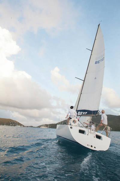 British Virgin Islands Photograph - Sail Boat Headed Towards Harbor by Henry Lederer