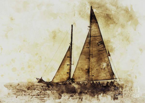 Digital Art - Sail Boat by Mark Jackson