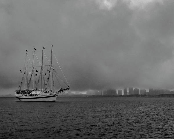 Photograph - Sail In The Fog by Laura Hedien