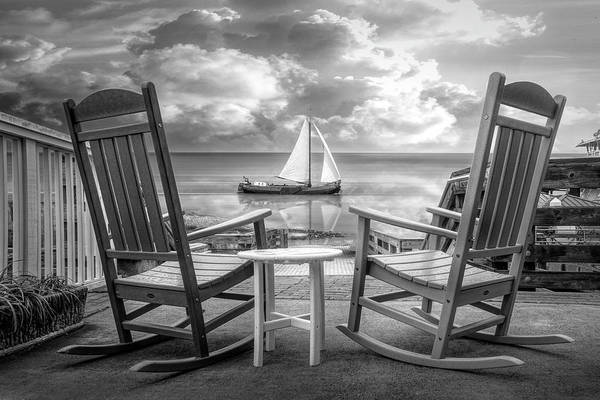 Wall Art - Photograph - Sail On In Black And White by Debra and Dave Vanderlaan
