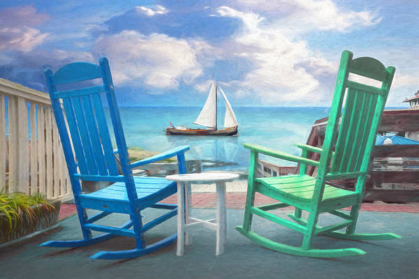 Photograph - Sail On Oil Painting by Debra and Dave Vanderlaan