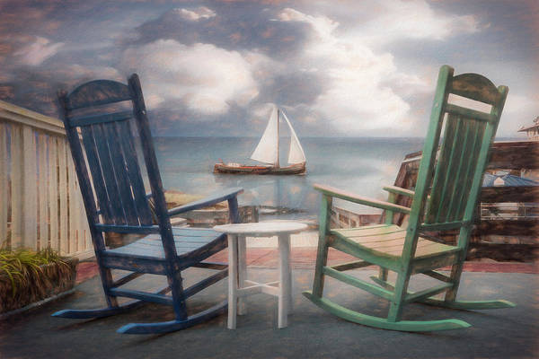 Wall Art - Photograph - Sail On Painting by Debra and Dave Vanderlaan