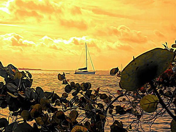 Sail The Manatee River Art Print