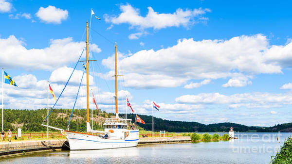 Gota Photograph - Sailboat At Mem by Ingemar Magnusson