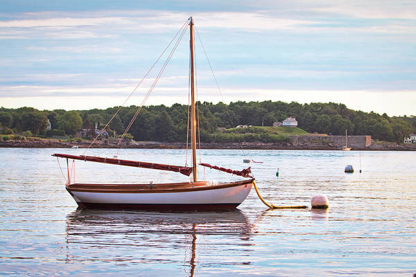 Wall Art - Photograph - Sailboat At Sunrsie by Eric Gendron