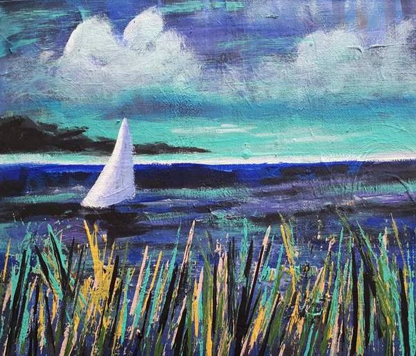 Painting - Sailboat Drifting by Nikki Dalton