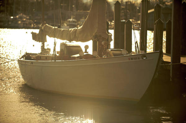 Photograph - Sailboat In Morning Light by Mark Duehmig