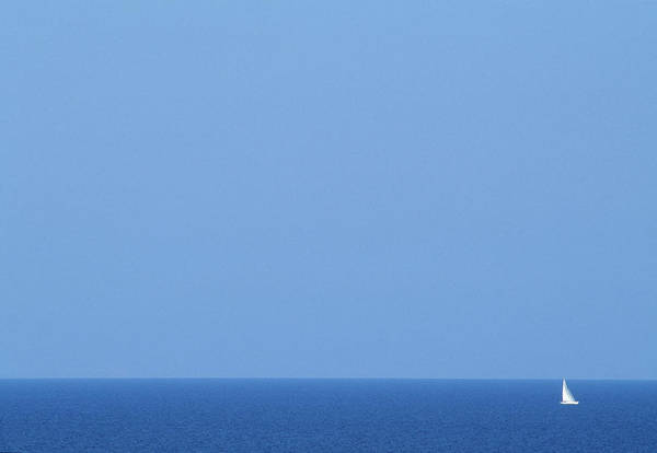Sailboat Photograph - Sailboat On Calm Ocean by Per Eriksson