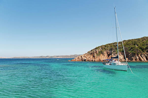 Luxury Yacht Photograph - Sailboat On Crystal Water by Andeva