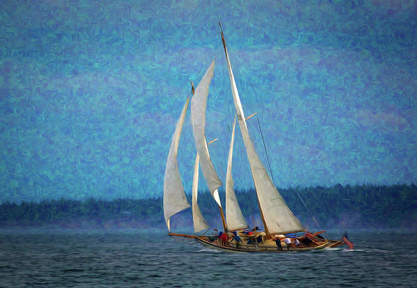 Port Townsend Painting - Sailboat Painting 16 by Mike Penney