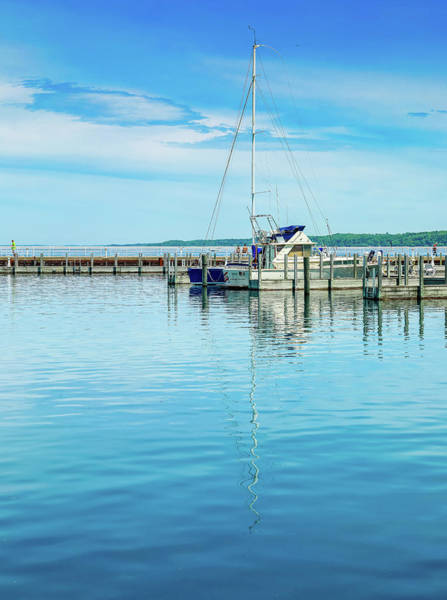 Photograph - Sailboat Reflections At The Dock by Dan Sproul