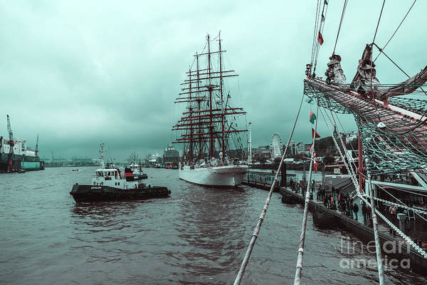 Photograph - Sailboat Sedov In Hamburg by Marina Usmanskaya