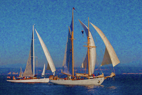 Port Townsend Painting - Sailboats 17 by Mike Penney