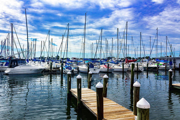 Photograph - Sailboats At Harbor Series 9102 by Carlos Diaz
