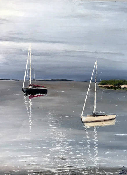 Wall Art - Painting - Sailboats At Rest by Don Seib