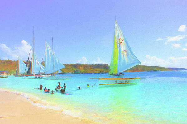 Photograph - Sailboats At Sandy Ground In Anguilla  by Ola Allen