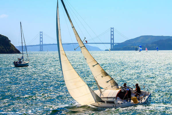 Wall Art - Photograph - Sailboats In The San Francisco Bay by Kevin Bermingham