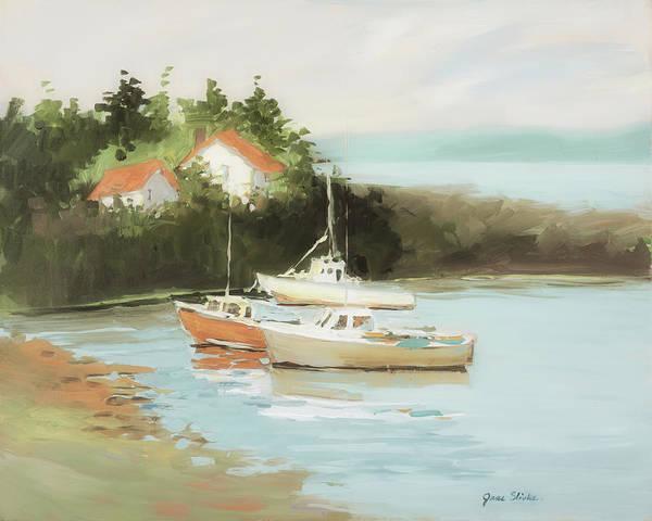 Wall Art - Painting - Sailboats by Jane Slivka