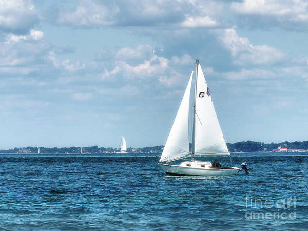 Photograph - Sailing Along The Tisbury Coast by Mark Miller