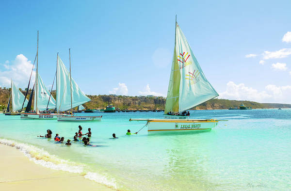 Photograph - Sailing And Swimming At Sandy Ground In Anguilla by Ola Allen