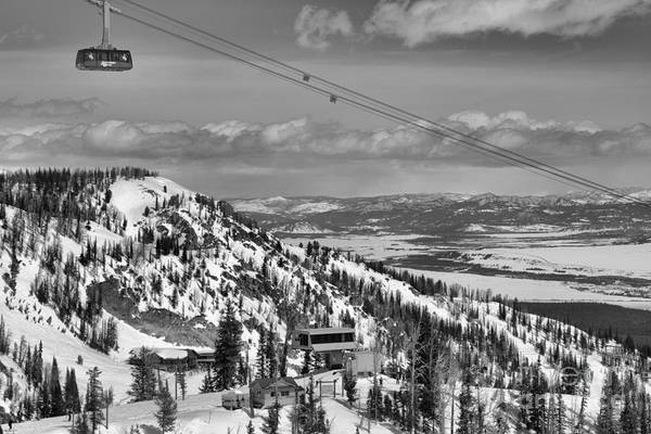 Photograph - Sailing Aove Jackson Hole Black And White by Adam Jewell