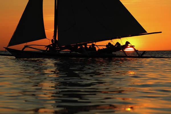Sailing Photograph - Sailing At Sunset by Vuk8691