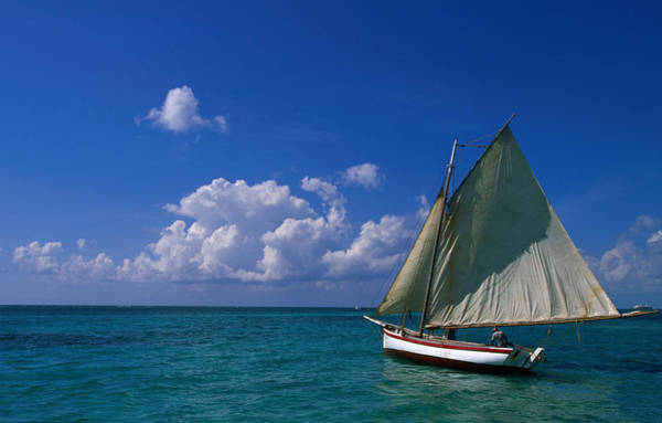 Ambergris Caye Photograph - Sailing Boat., Ambergris Caye, Belize by Doug Mckinlay