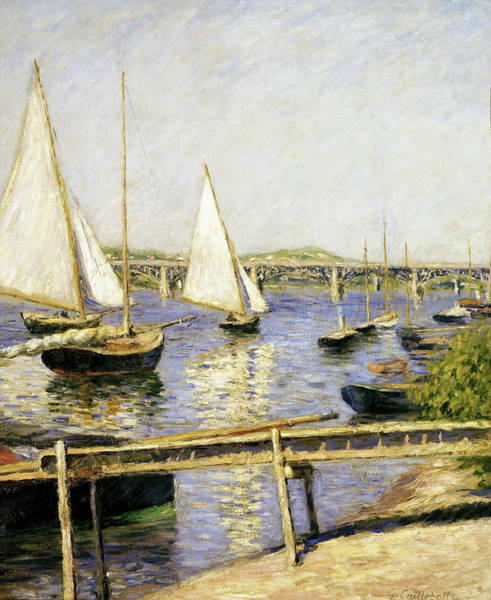 Wall Art - Painting - Sailing Boats At Argenteuil - Digital Remastered Edition by Gustave Caillebotte