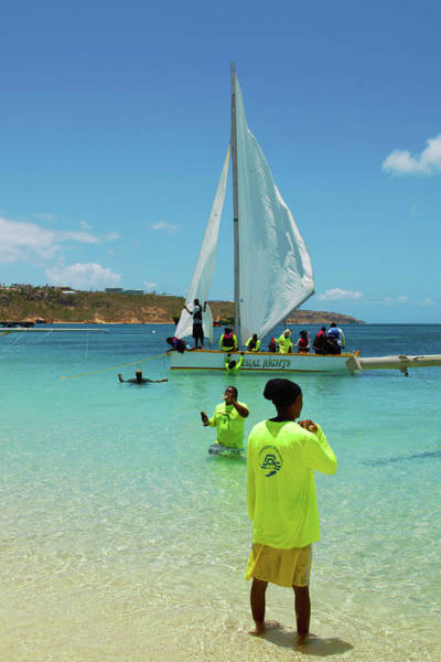 Photograph - Legal Rights Sailing Crew In Yellow Jerseys In Anguilla by Ola Allen