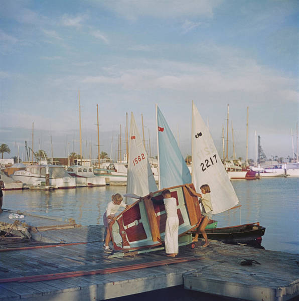 Wall Art - Photograph - Sailing Dinghy by Slim Aarons