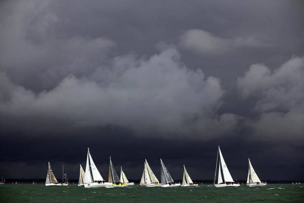Photograph - Sailing Enthusiasts Flock To The Isle by Dan Kitwood