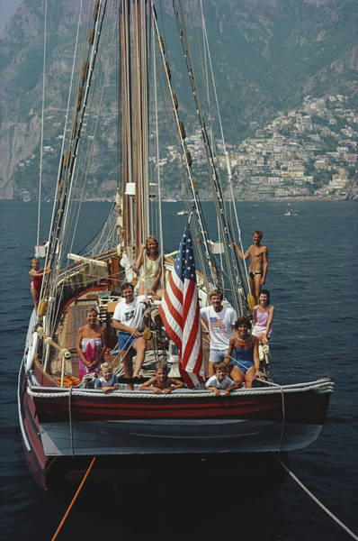 Photograph - Sailing Holiday by Slim Aarons