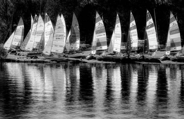 Wall Art - Photograph - Sailing In Black And White by Debra and Dave Vanderlaan