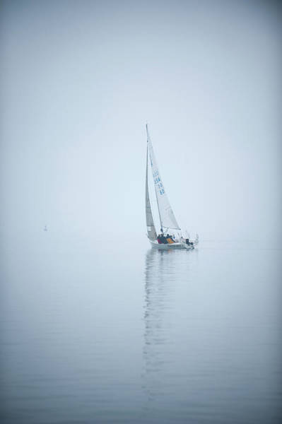 Photograph - Sailing In The Fog by Mark Duehmig