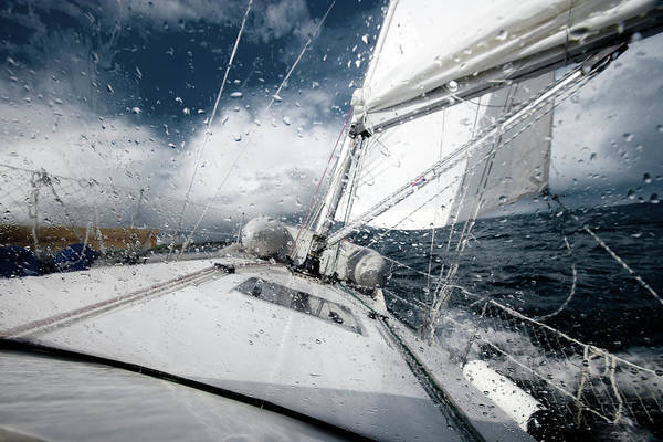Storm Photograph - Sailing In The North Sea During A Storm by Sindre Ellingsen